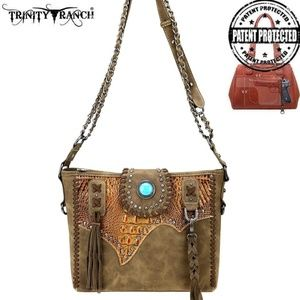 CF Trinity Ranch Tooled Leather Collection Crossbo